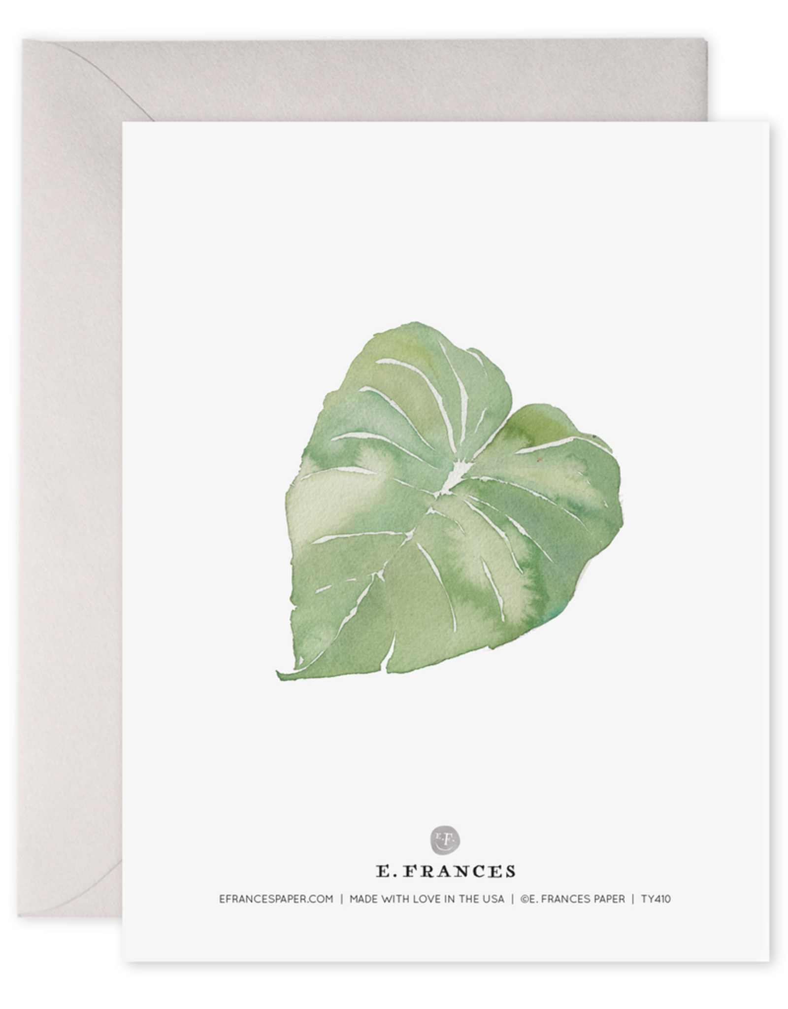 E. Frances Paper Thank You Card - Leaves