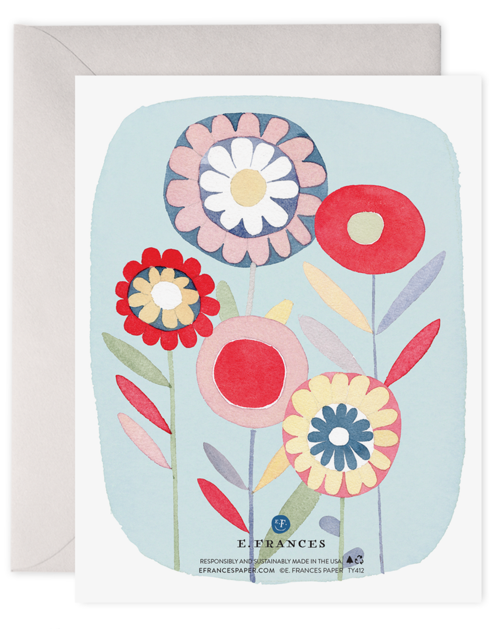 E. Frances Paper Thank You Card - Folky Flowers