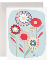 E. Frances Paper E. Frances - Folky Flowers Thank You Card