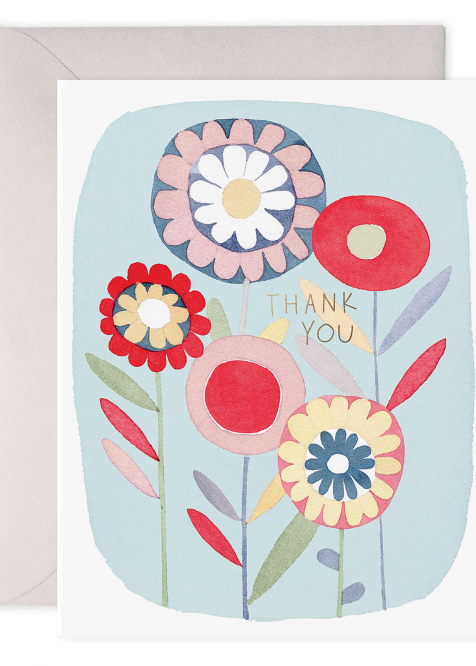 E. Frances Paper Folky Flowers Thank You Card