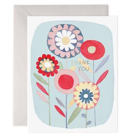 E. Frances Paper E. Frances - Folky Flowers Thank You Card