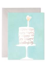 E. Frances Paper Wedding Card - Wedding Cake