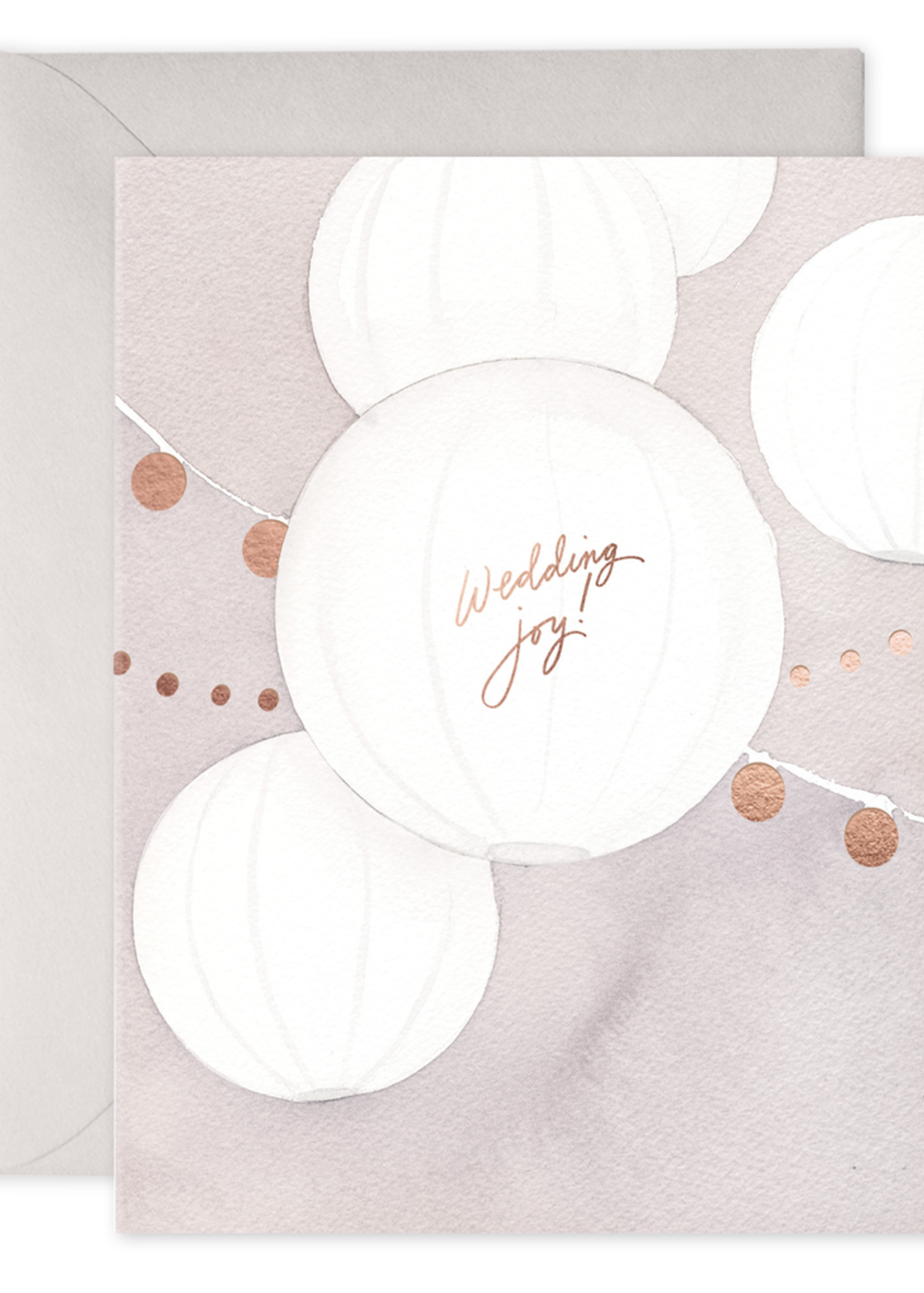 E. Frances Paper Wedding Card - Wedding Lanterns
