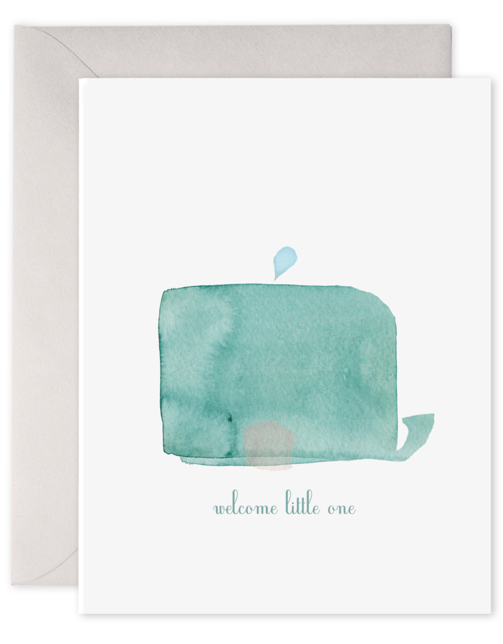 E. Frances Paper Baby Card - Welcome Little One Whale