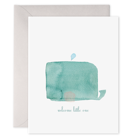 E. Frances Paper E. Frances - Baby Card - Welcome Little One Whale