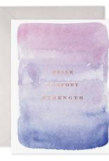 E. Frances Paper Condolence Card - Peace, Comfort, Strength