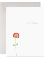 E. Frances Paper E. Frances - Get Well Card - Rainbow Flower