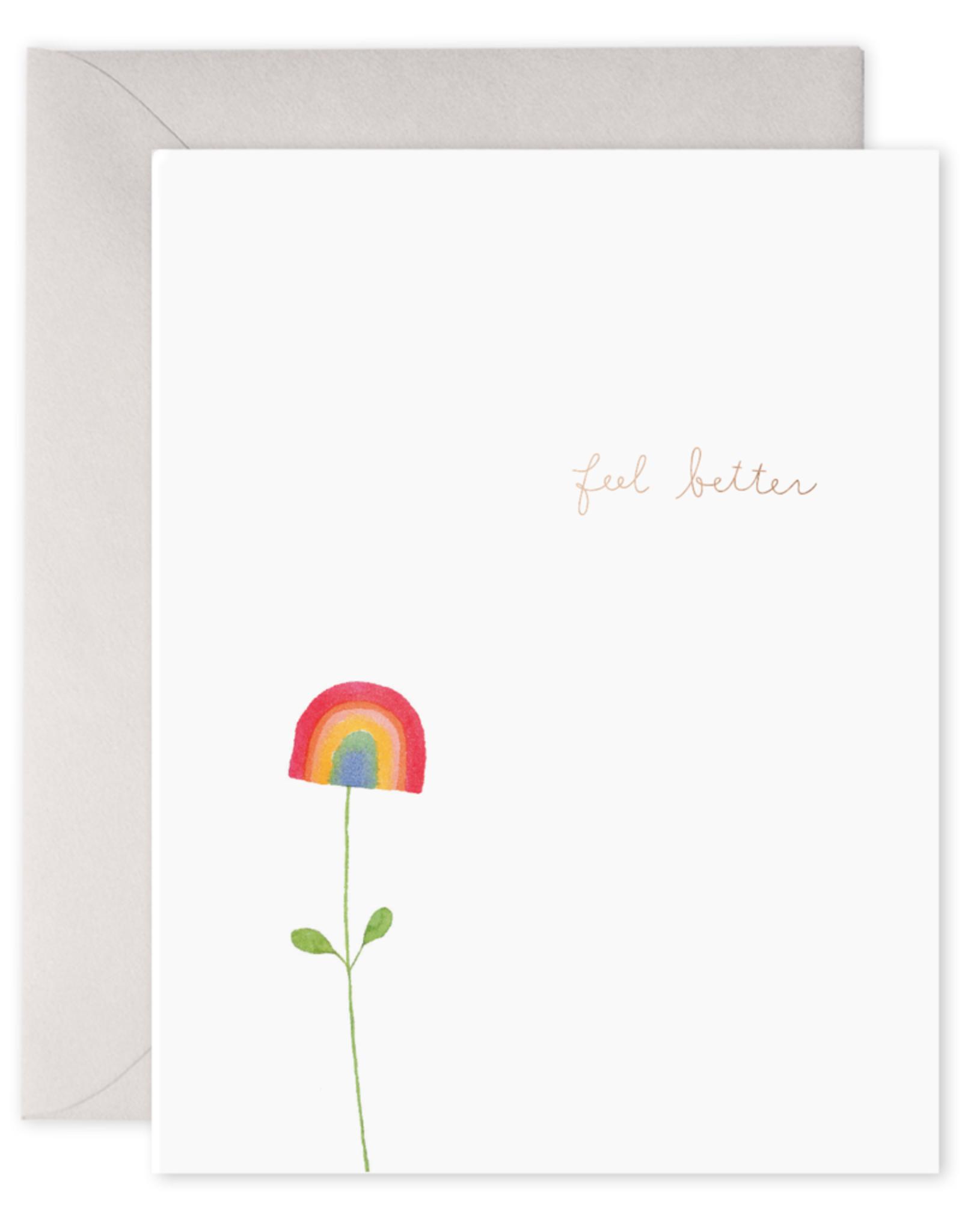 E. Frances Paper Get Well Card - Rainbow Flower