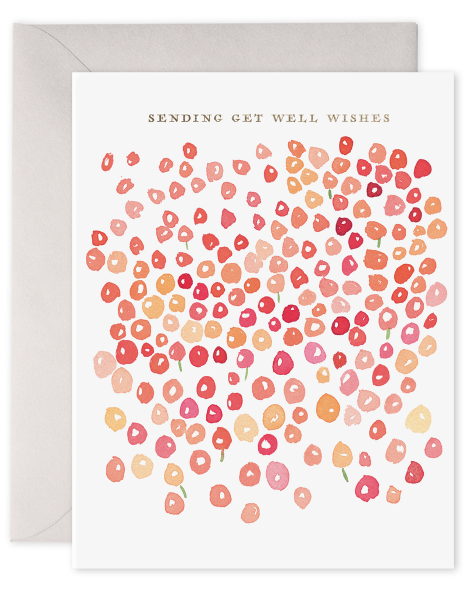 E. Frances Paper Get Well Card - Flowers