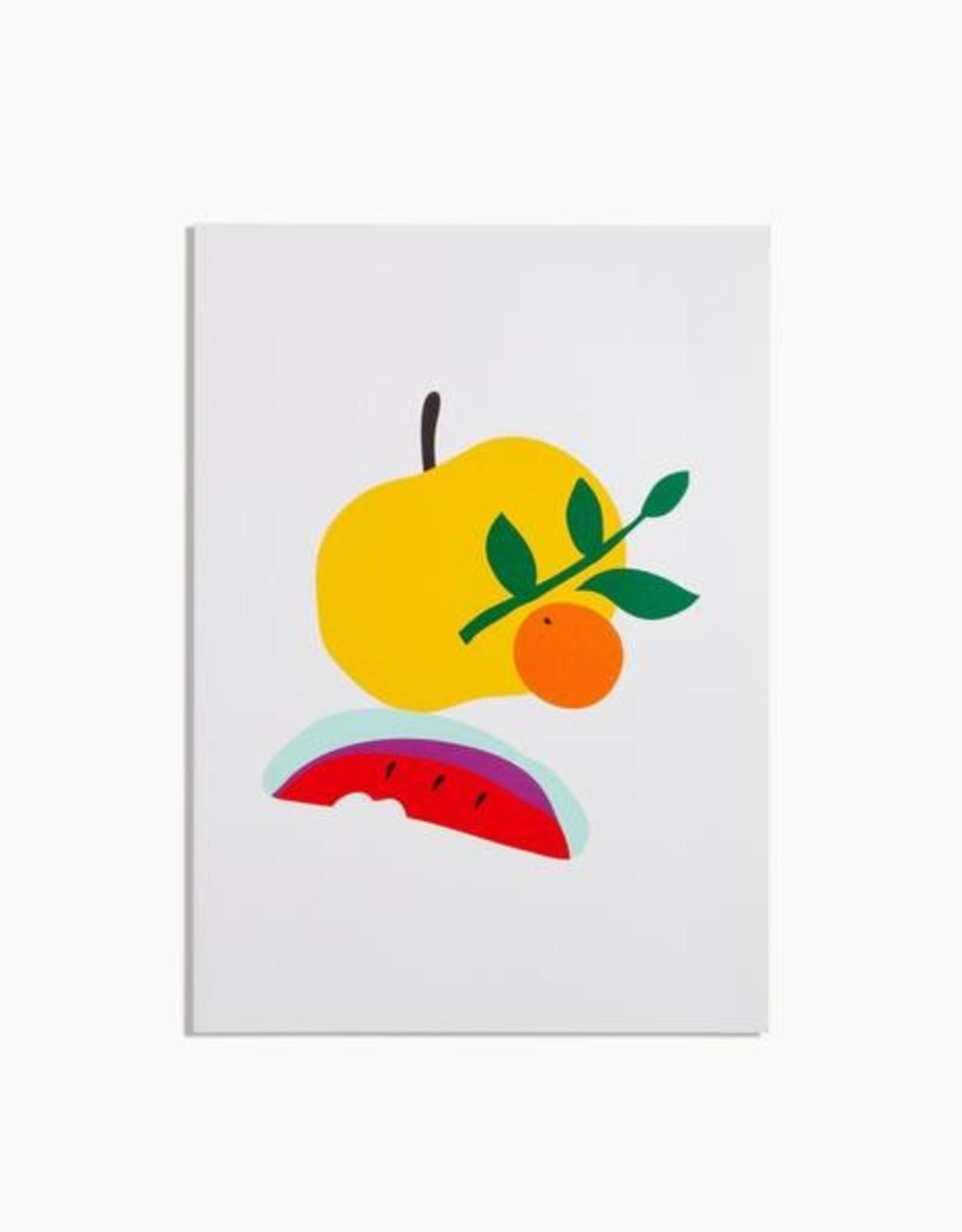 Poketo Simple Lined Notebook - Tangerine