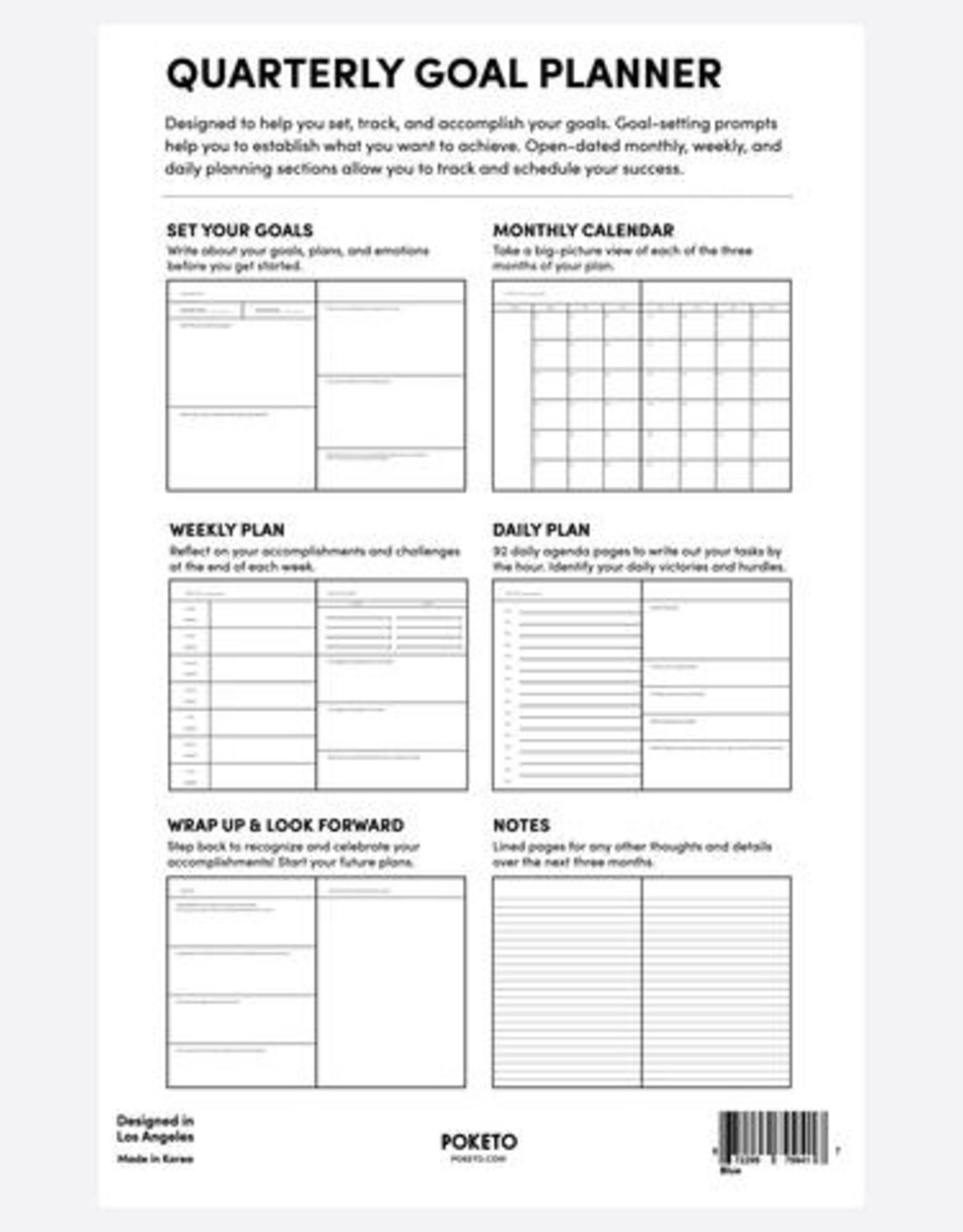 Poketo Quarterly Goal Planner - Green