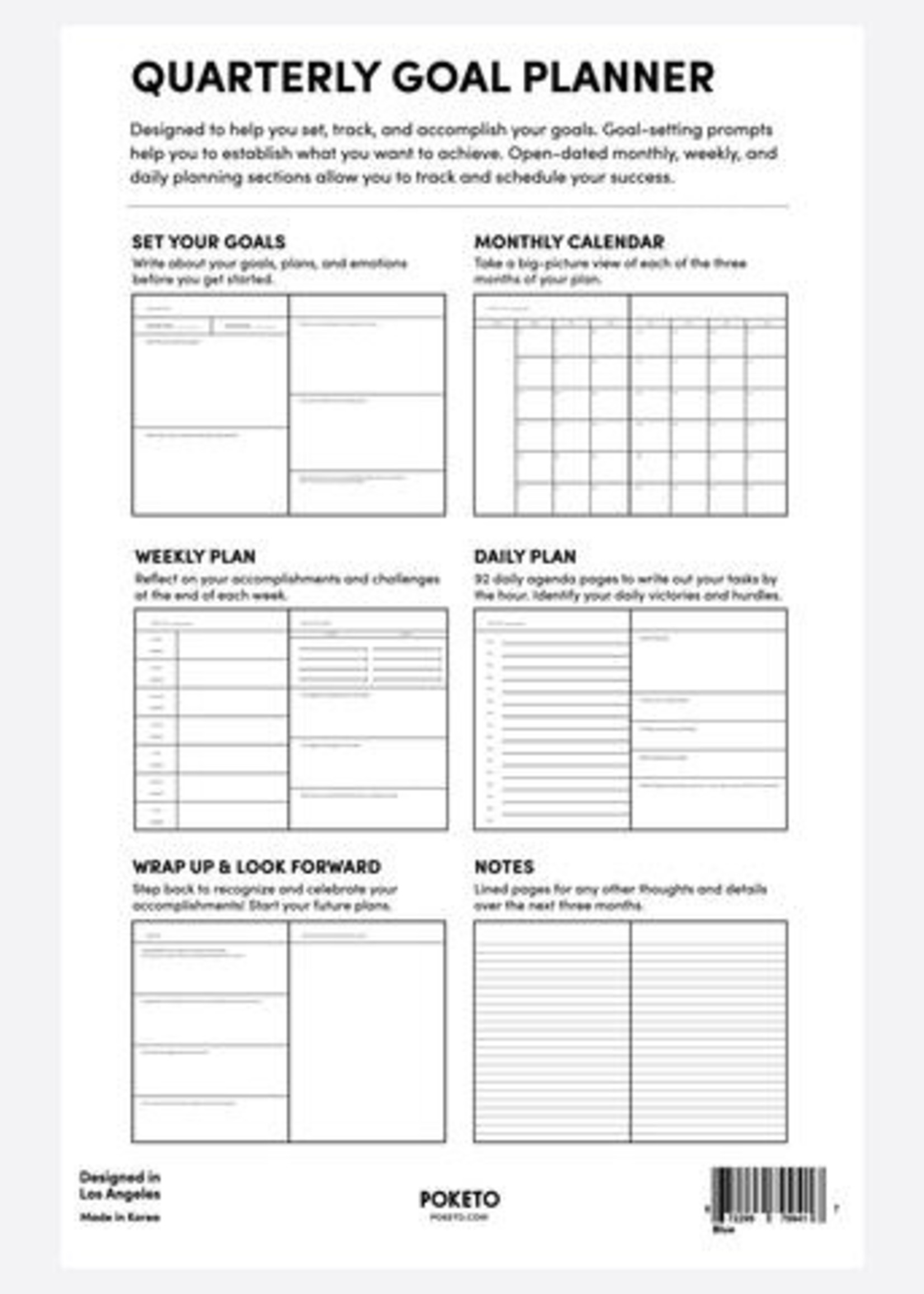 Poketo Quarterly Goal Planner - Green