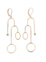 Vanessa Gade Vanessa Gade Aura Earrings Rose Gold Green Tourmaline