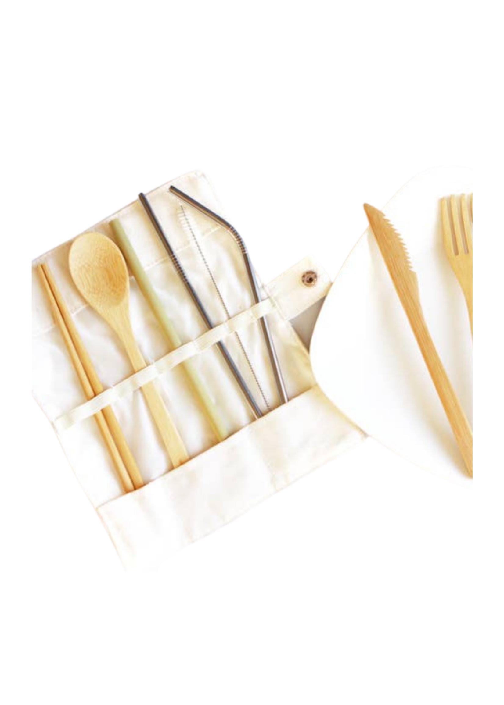 Last Straw Last Straw Eco-friendly Bamboo & Stainless Utensil Straw Set
