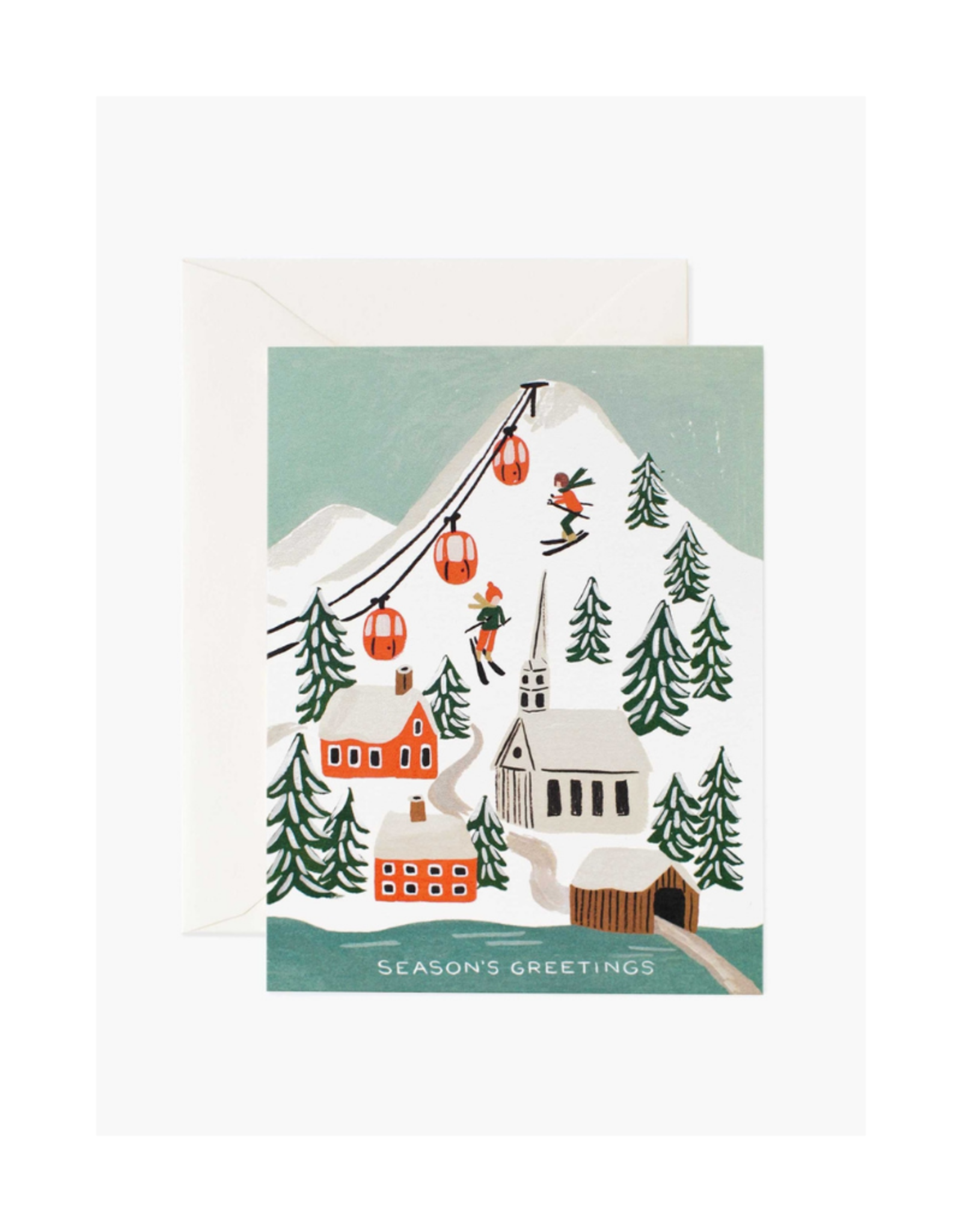 Rifle Paper Co. Holiday Snow Scene Holiday Card