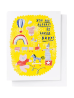 Yellow Owl Workshop Yellow Owl Workshop - So Loved, Baby Card