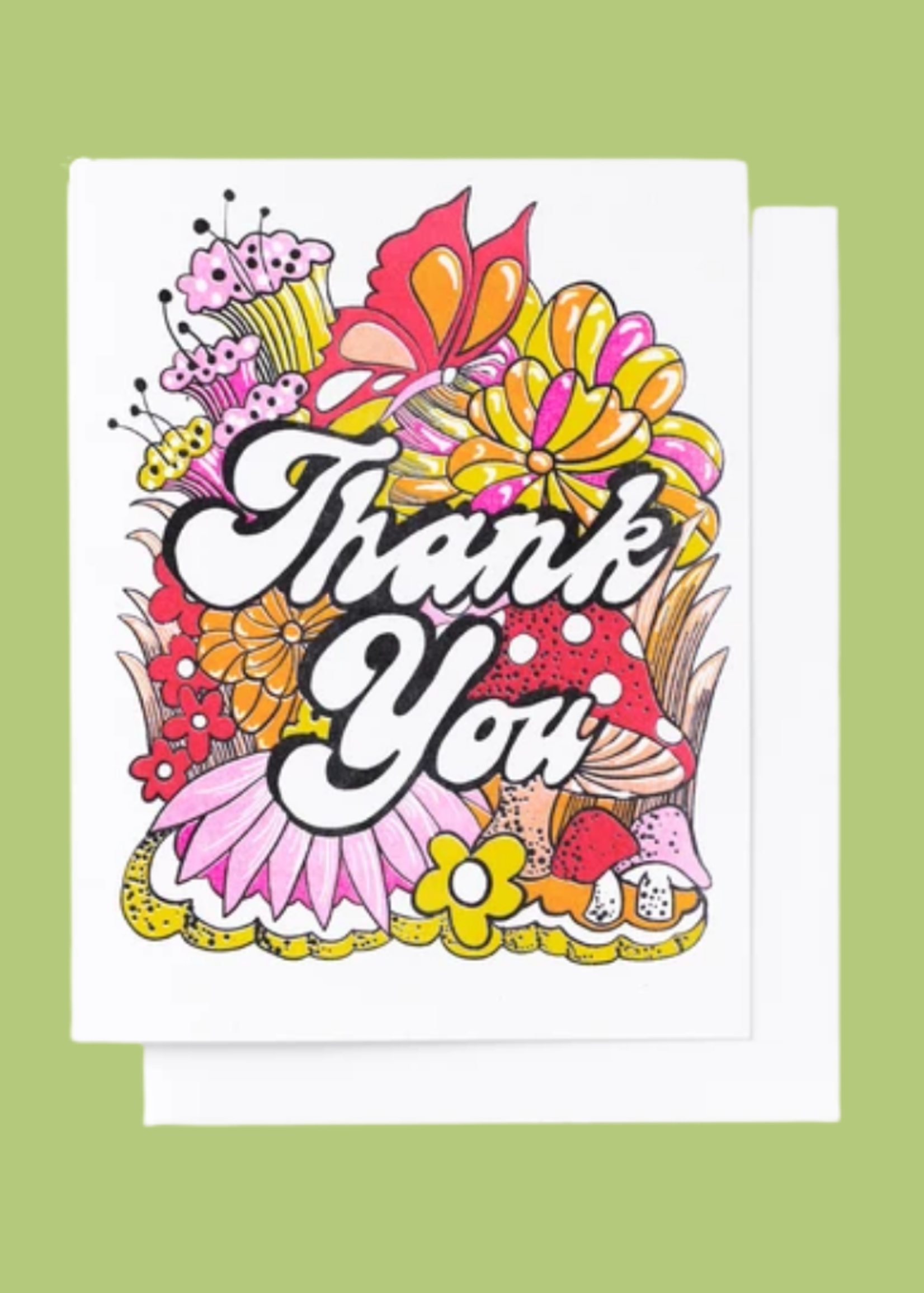 Yellow Owl Workshop Floral Thank You Card