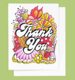 Yellow Owl Workshop Yellow Owl Workshop - Floral Thank You Card