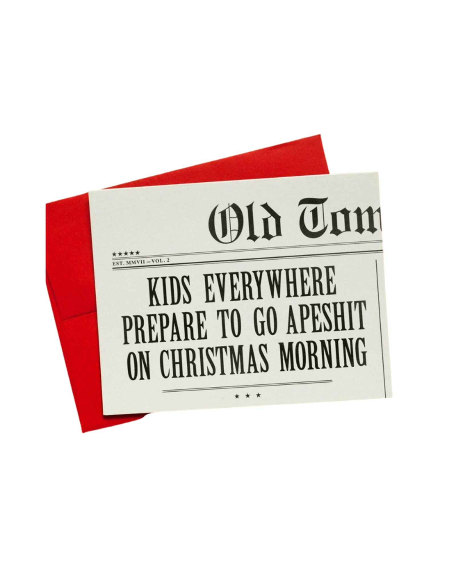 Old Tom Foolery Kids Go Apeshit