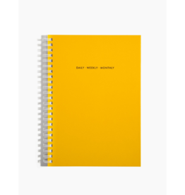 Poketo Poketo Open Dated Daily/Weekly/Monthly Planner Yellow