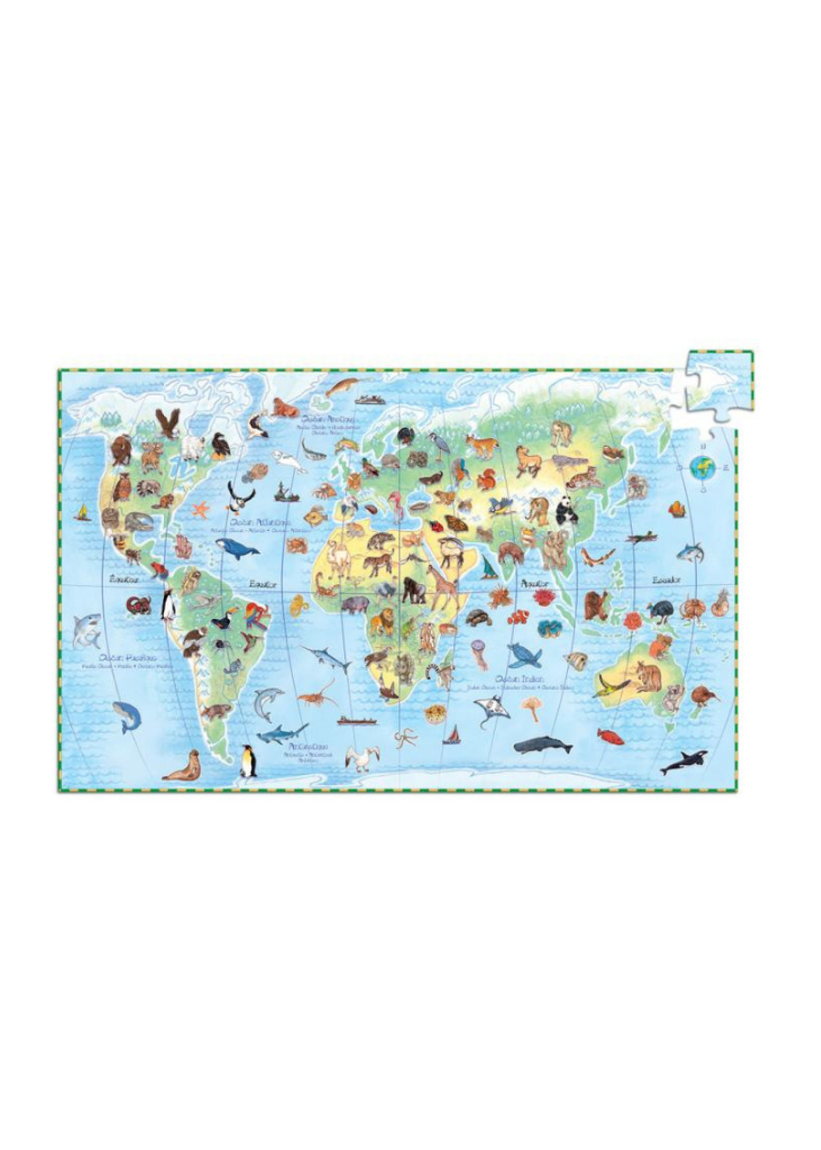 Djeco Djeco World's Animals Puzzle