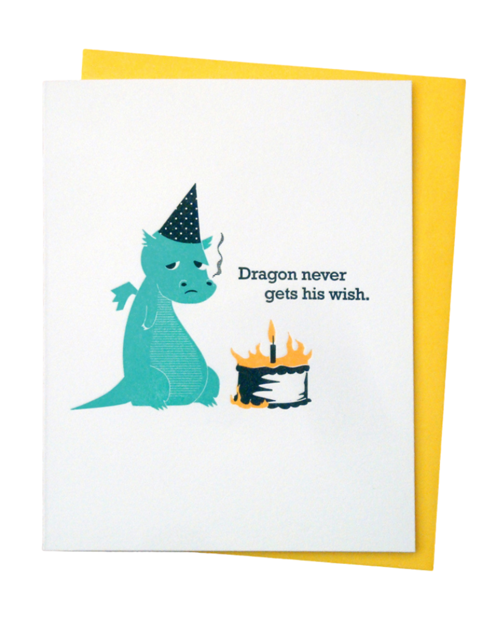 McBitterson's Dragon Never Gets His Wish - Birthday Card