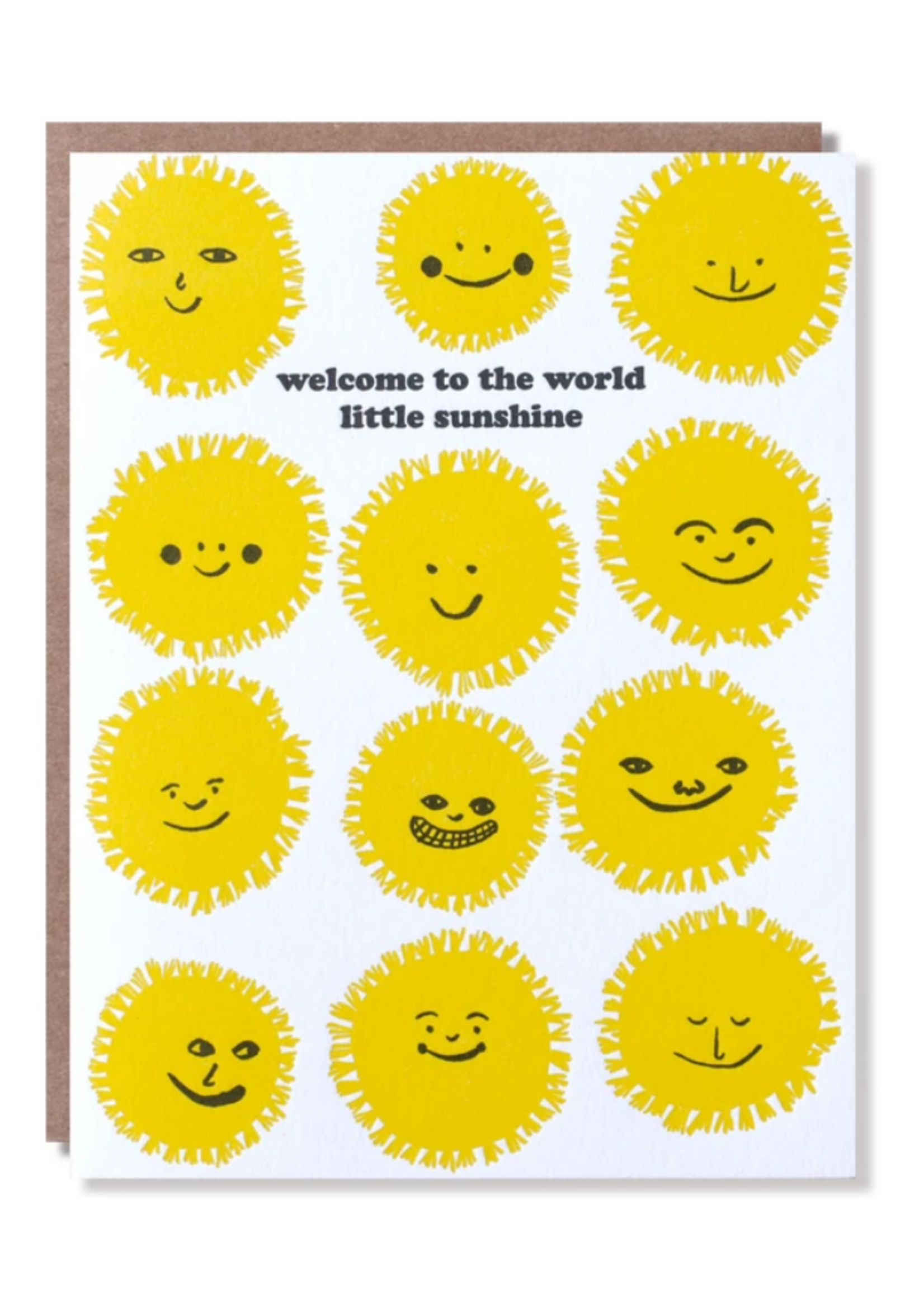 Egg Press Welcome Sunshine Baby Card