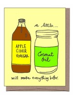 La Familia Green La Familia Green - Apple Cider & Coconut Oil Get Well Card