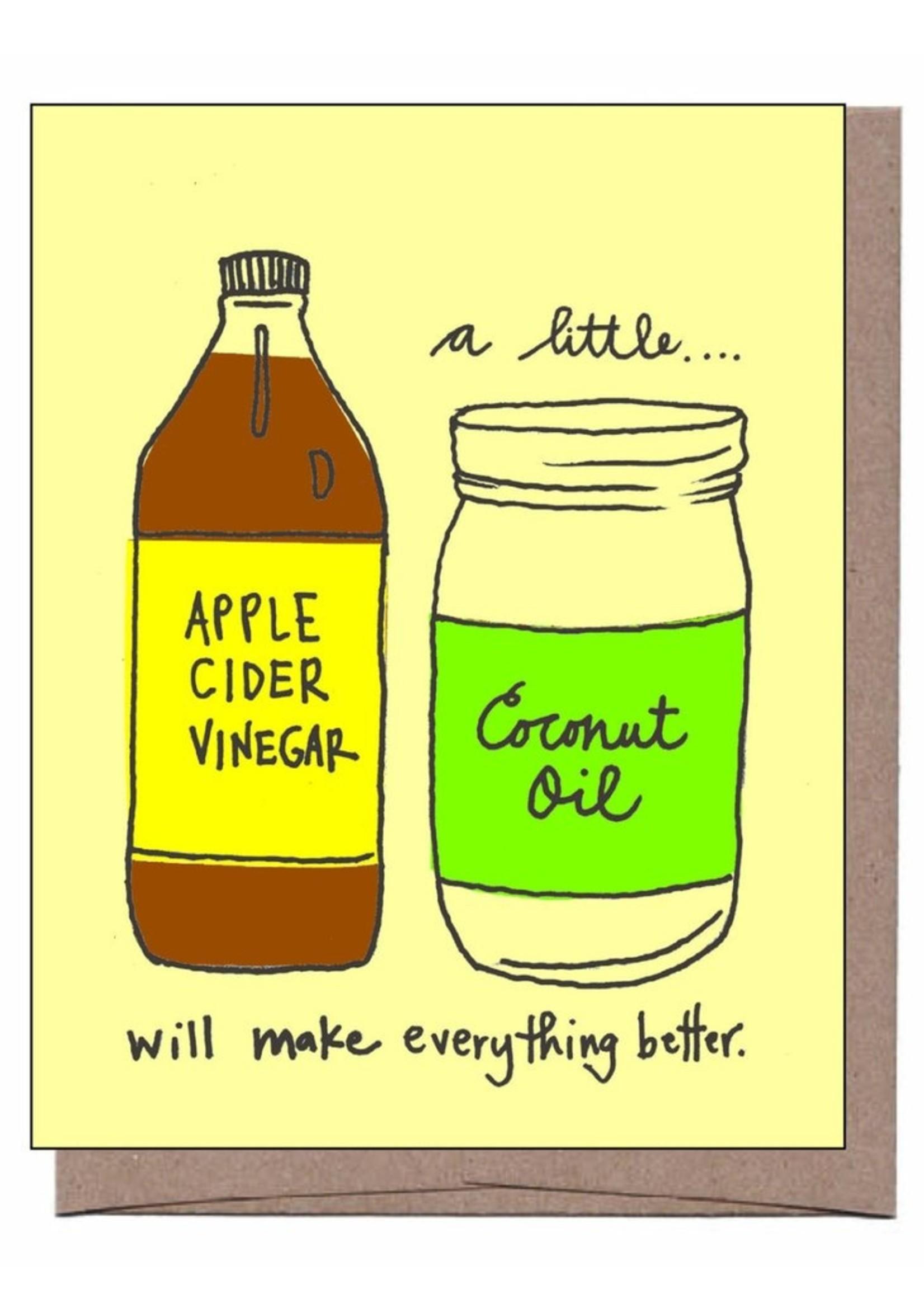 La Familia Green Apple Cider & Coconut Oil Get Well Card