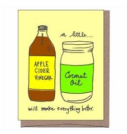 La Familia Green La Familia Green - Apple Cider & Coconut Oil Get Well Card