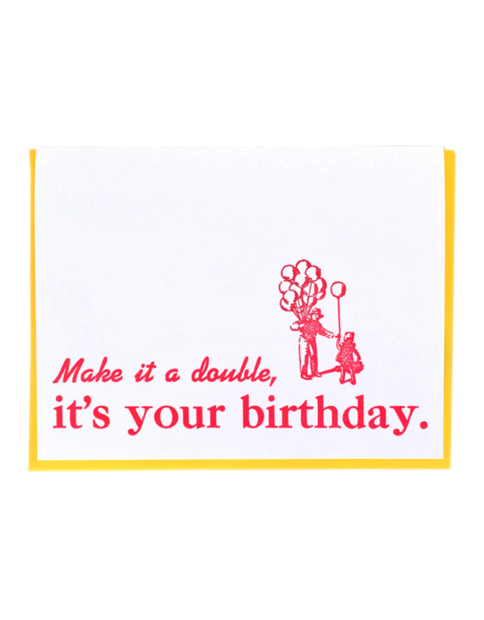 Zeichen Press Make it a Double Birthday Card