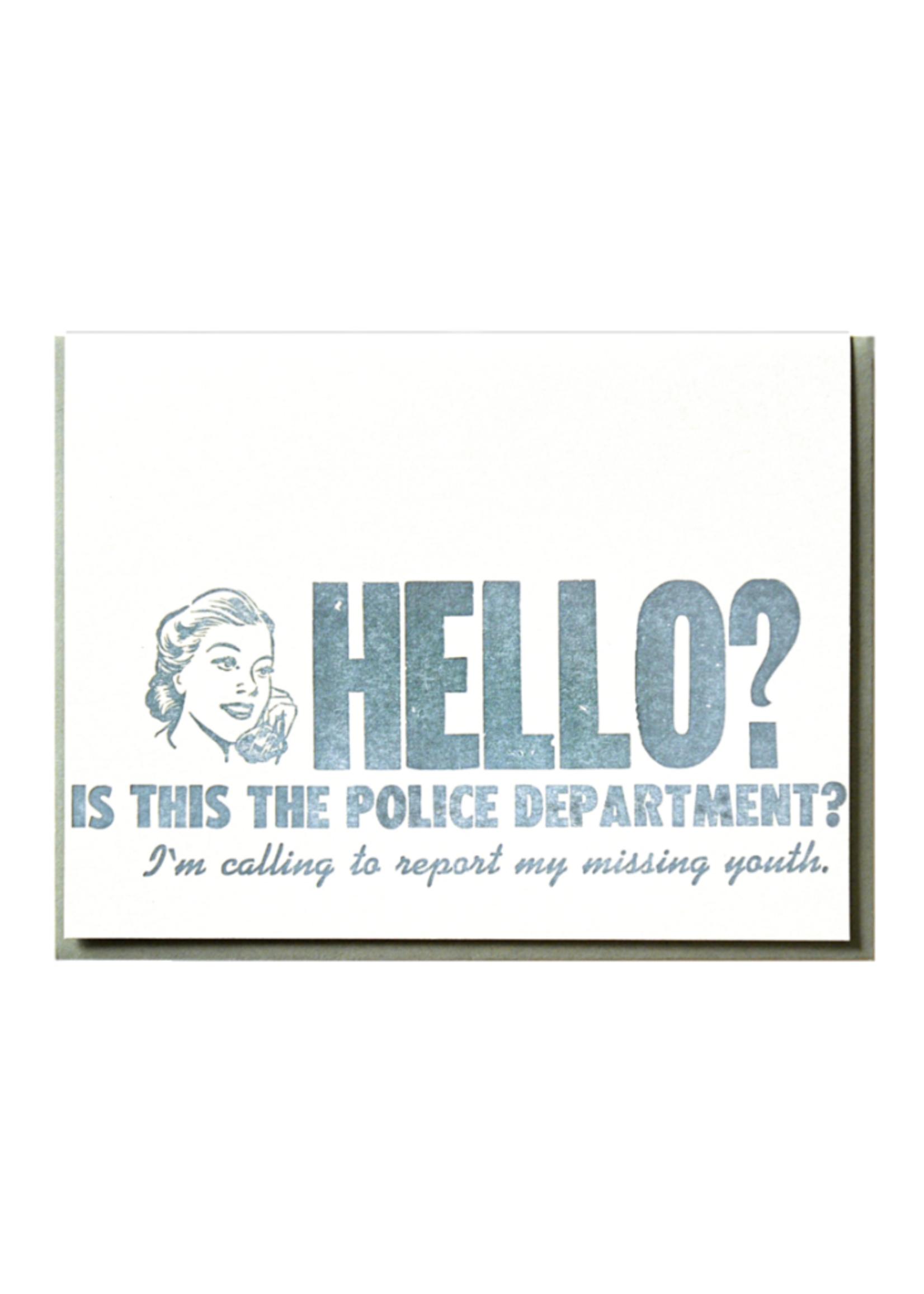 Zeichen Press Missing Youth Birthday Card
