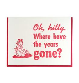 Zeichen Press Zeichen Press - Oh Kitty Birthday Card