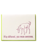 Zeichen Press If By Different... Humorous Card