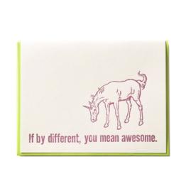 Zeichen Press Zeichen Press - If By Different... Humorous Card