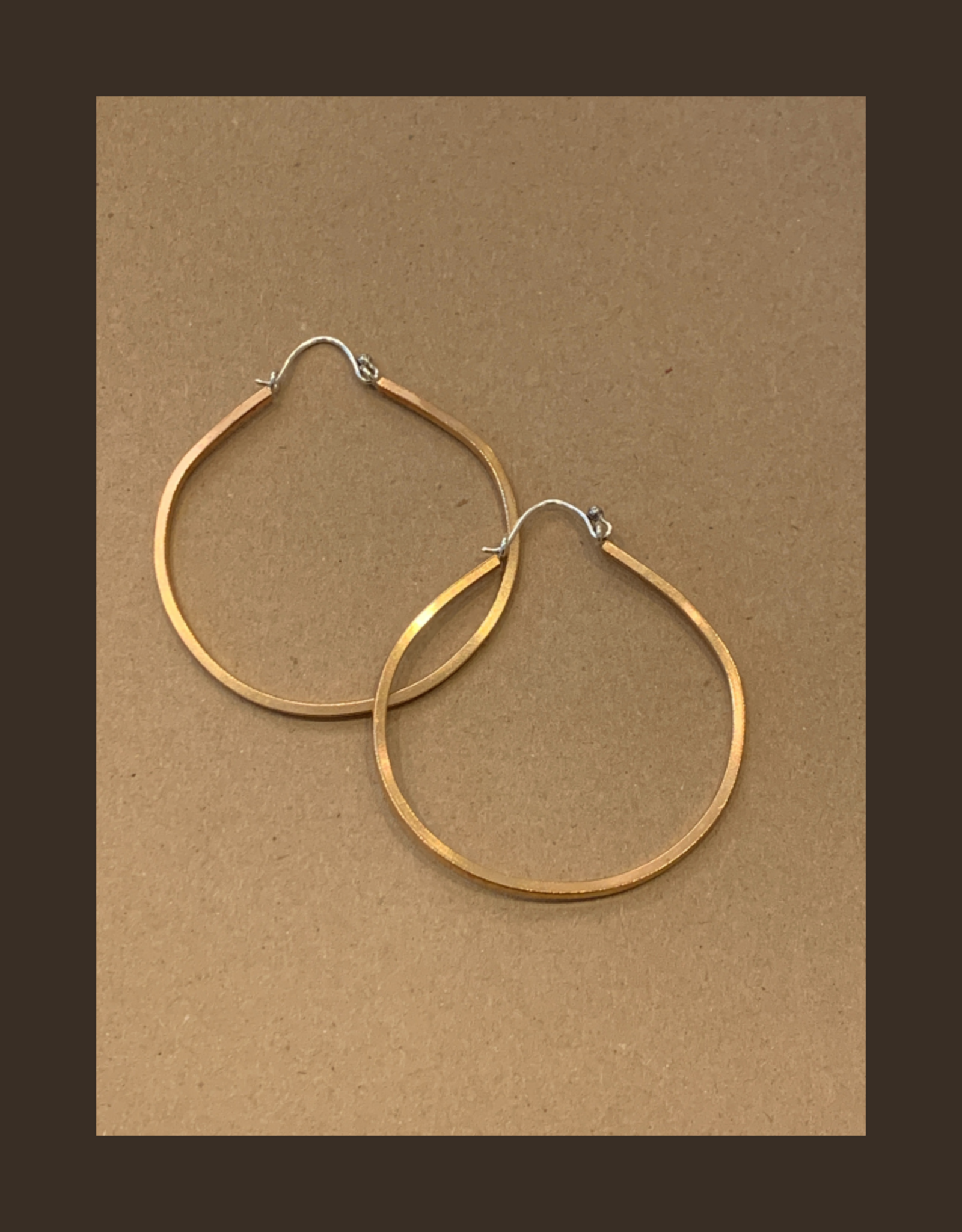 Gretchen Walker Jewelry Large Bronze Hoops