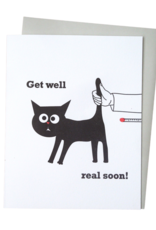 McBitterson's Cat Thermometer Get Well Card