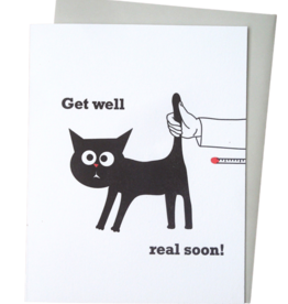 McBitterson's McBitterson's - Cat Thermometer Get Well Card