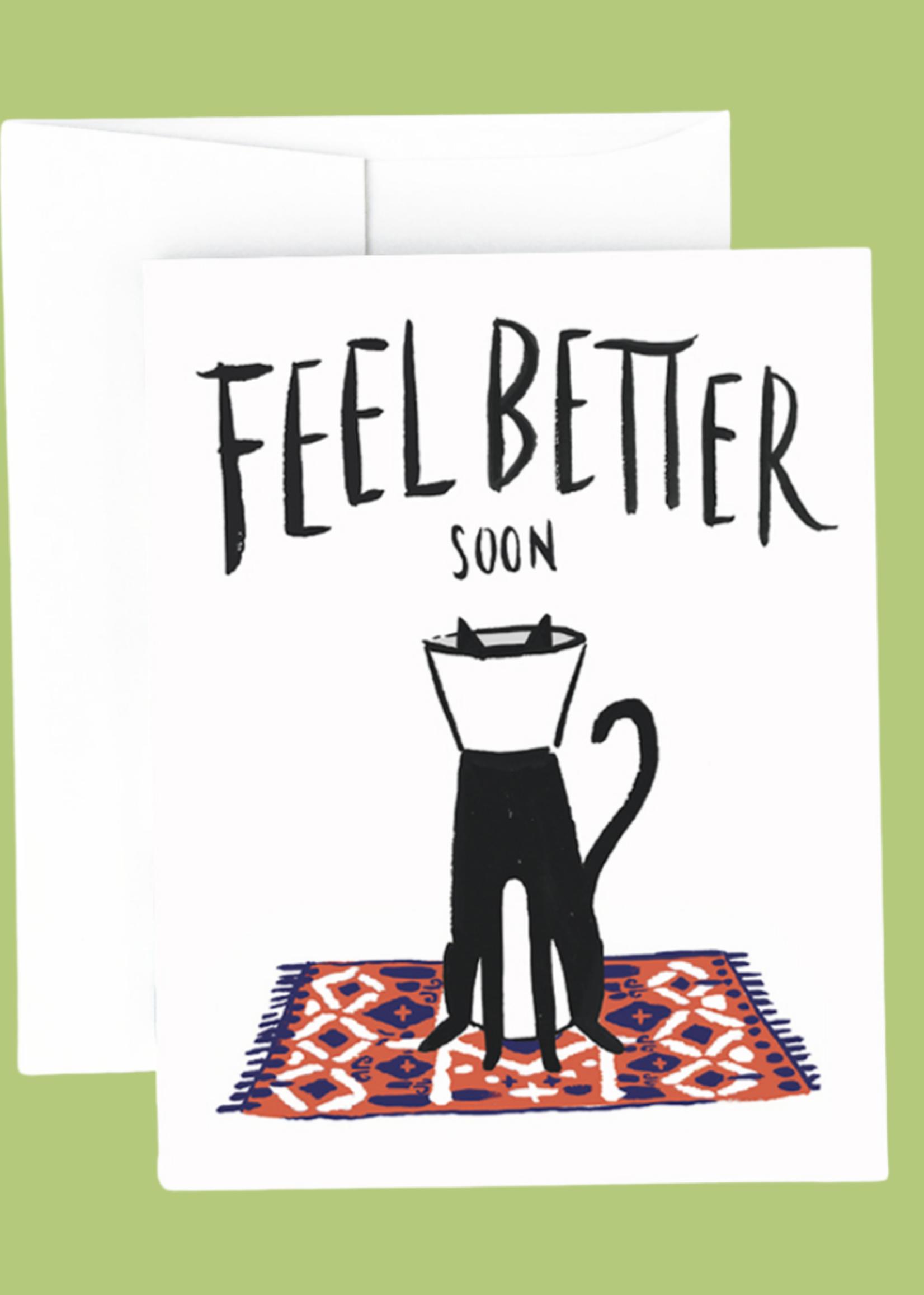 Idlewild Co. Cat Cone Get Well Card