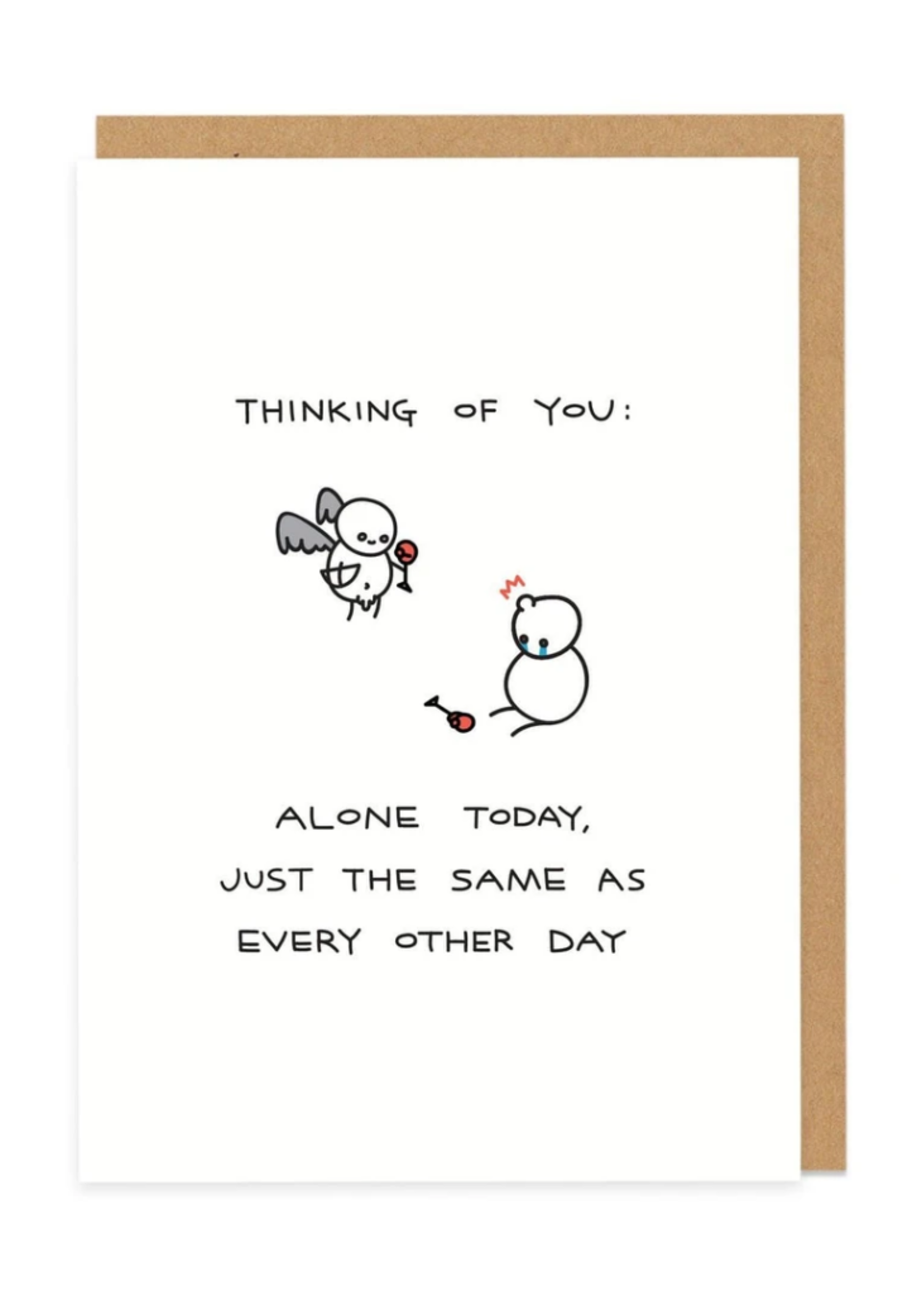 Ohh Deer Thinking of You Alone Today Humorous Card