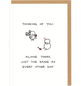 Ohh Deer Ohh Deer - Alone Today Humorous Card