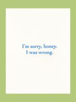 Lady Pilot Letterpress Lady Pilot Letterpress - Sorry Honey Apology Card