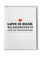 McBitterson's McBitterson's - Love is Dead Anniversary Card