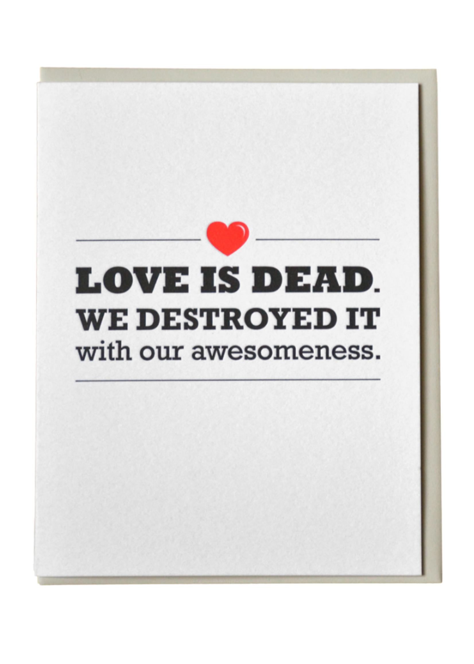 McBitterson's Love is Dead Anniversary Card