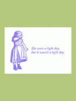 Blue Barnhouse Blue Barnhouse - She Wore a Light Day Humorous Card