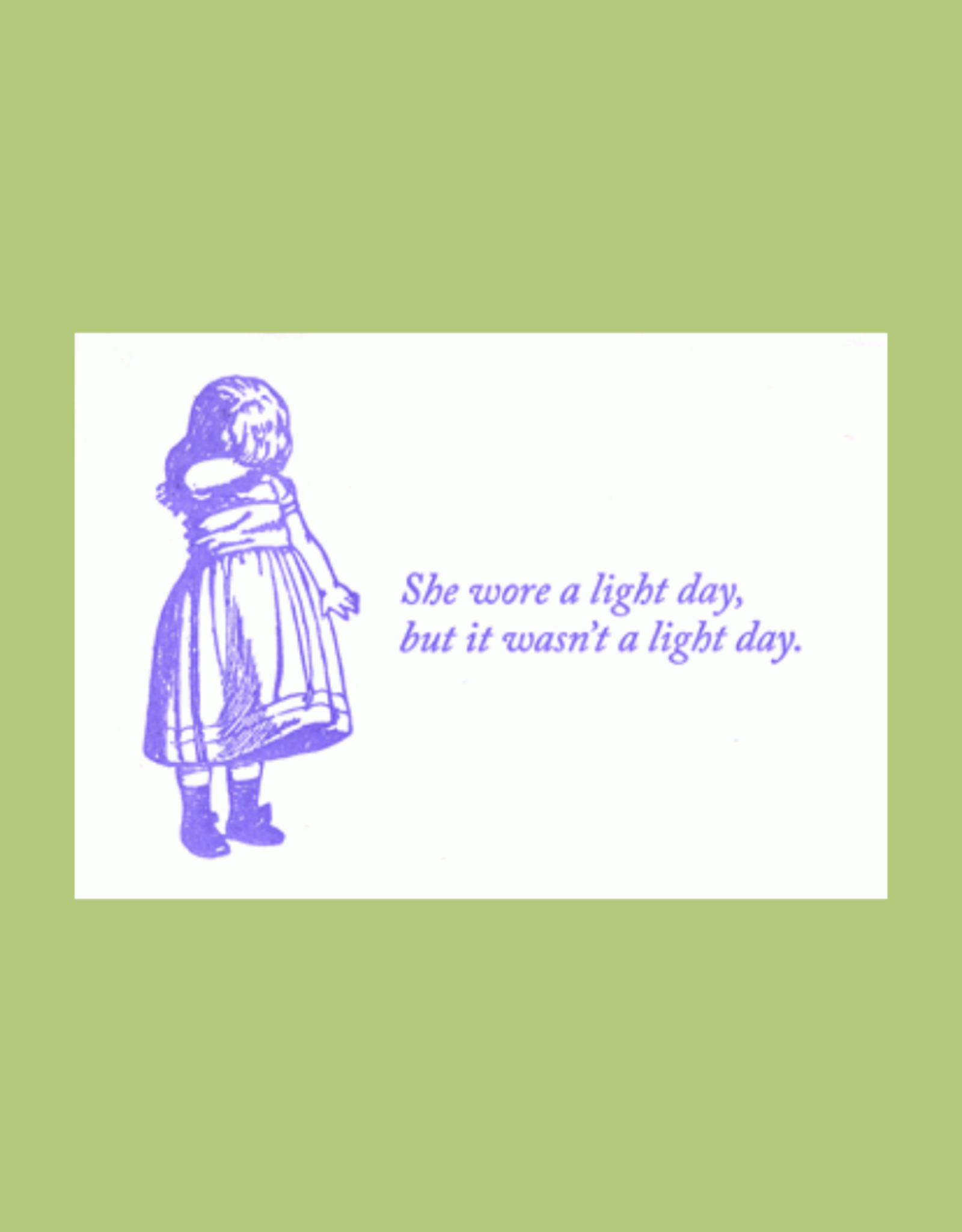 Blue Barnhouse She Wore a Light Day Humorous Card