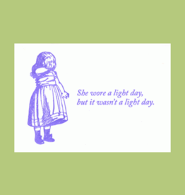 Blue Barnhouse Blue Barnhouse - She Wore a Light Day Humorous Card