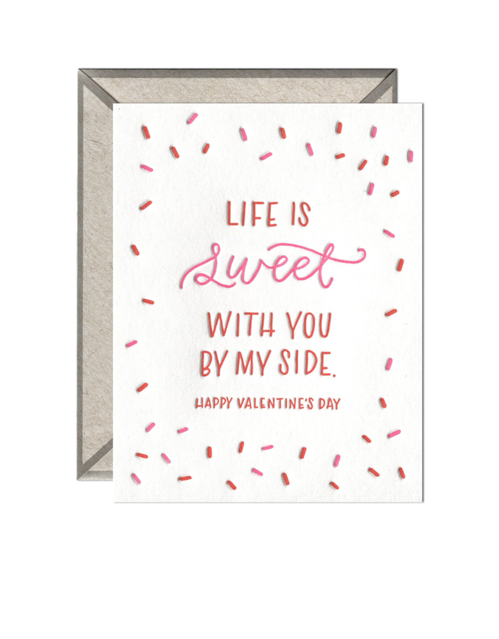 Ink Meets Paper Life is Sweet Valentine Card