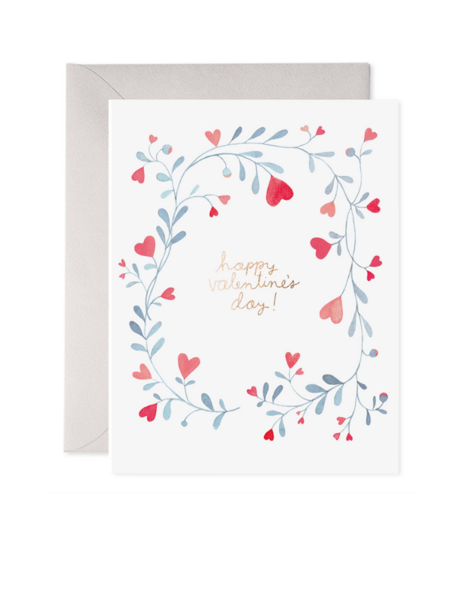 E. Frances Paper Valentine Vine Card