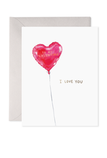 E. Frances Paper Red Balloon Valentine's Card